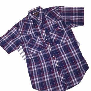 {OUTLAW} Snap Button Western Wear Shirt EUC M